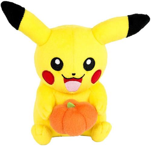 Pokemon Pikachu 9-Inch Plush [with Pumpkin]