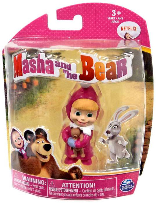 Masha and the Bear Masha with Teddy Bear 3-Inch Figure