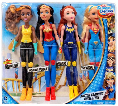 DC Super Hero Girls Action Training Collection 11-Inch Doll 4-Pack [Bumble Bee, Wonder Woman, Batgirl & Supergirl]