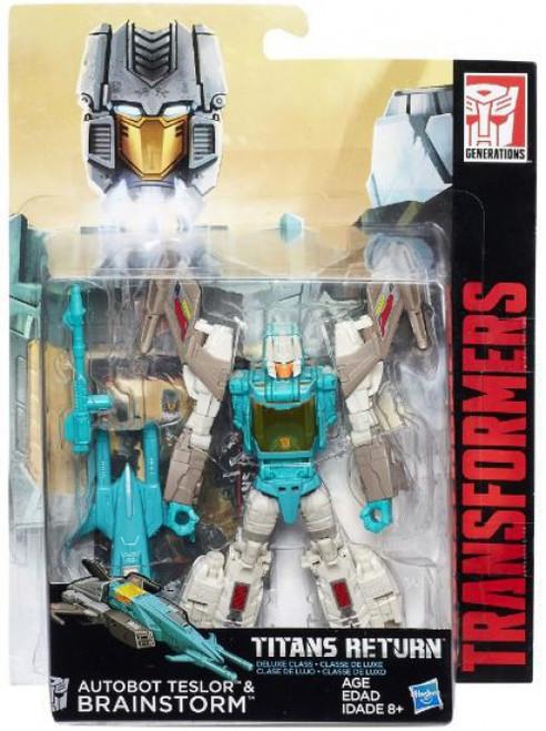 Transformers Generations Titans Return Autobot Teslor & Brainstorm Exclusive Deluxe Action Figure