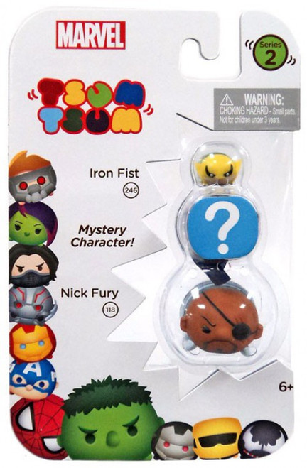 Marvel Tsum Tsum Series 2 Iron Fist & Nick Fury 1-Inch Minifigure 3-Pack #246 & 118