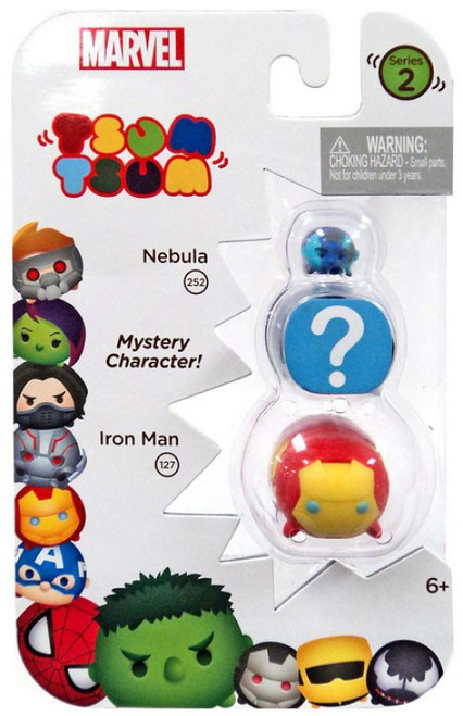 Marvel Tsum Tsum Series 2 Nebula & Iron Man 1-Inch Minifigure 3-Pack #252 & 127