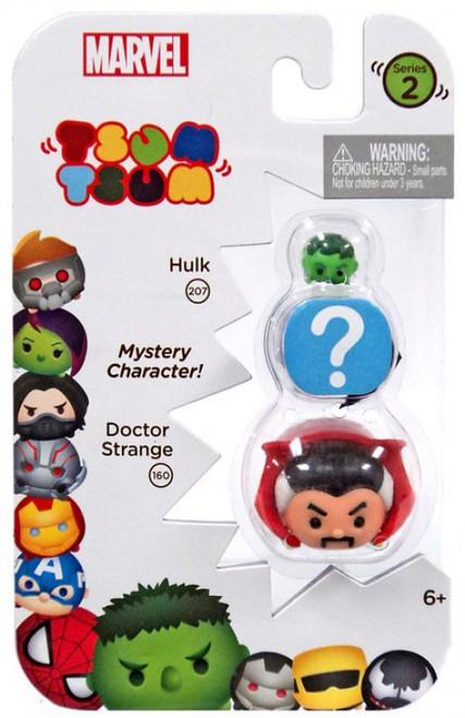 Marvel Tsum Tsum Series 2 Hulk & Doctor Strange 1-Inch Minifigure 3-Pack #207 & 160