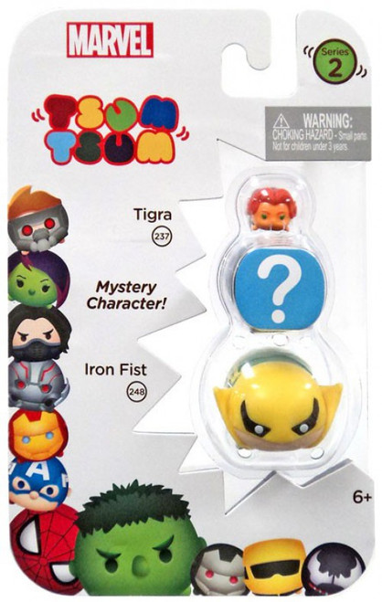 Marvel Tsum Tsum Series 2 Tigra & Iron Fist 1-Inch Minifigure 3-Pack #237 & 248