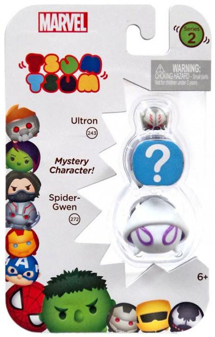 Marvel Tsum Tsum Series 2 Ultron & Spider-Gwen 1-Inch Minifigure 3-Pack #243 & 272