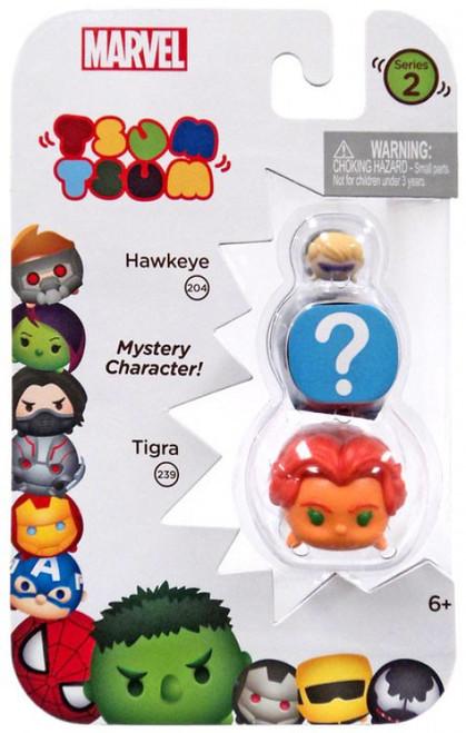 Marvel Tsum Tsum Series 2 Hawkeye & Tigra 1-Inch Minifigure 3-Pack #204 & 239