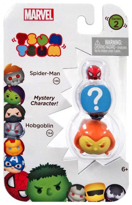 Marvel Tsum Tsum Series 2 Spider-Man & Hobgoblin 1-Inch Minifigure 3-Pack #146 & 154