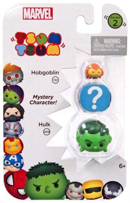 Marvel Tsum Tsum Series 2 Hobgoblin & Hulk 1-Inch Minifigure 3-Pack #152 & 209