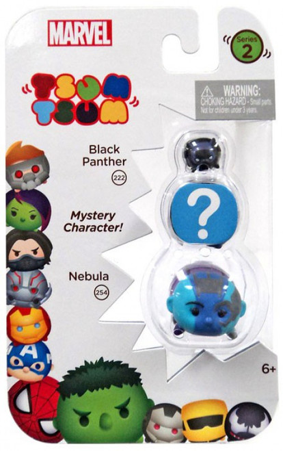 Marvel Tsum Tsum Series 2 Black Panther & Nebula 1-Inch Minifigure 3-Pack #222 & 254