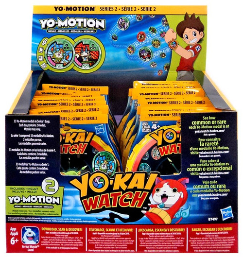 Yo-Kai Watch Yo-Motion Series 2 Mystery Box [24 Packs]