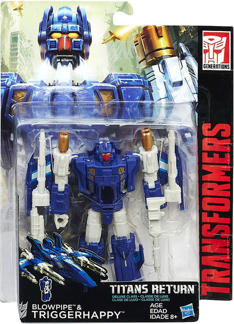 Transformers Generations Titans Return Blowpipe & Triggerhappy Deluxe Action Figure