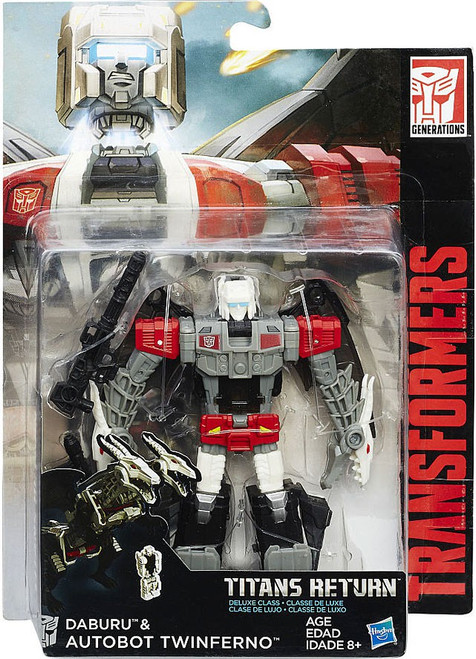 Transformers Generations Titans Return Daburu & Autobot Twinferno Deluxe Action Figure