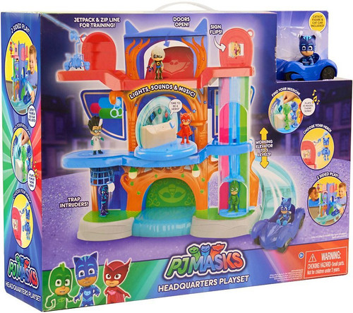 Disney Junior PJ Masks Headquarters Playset [Cat-Car]