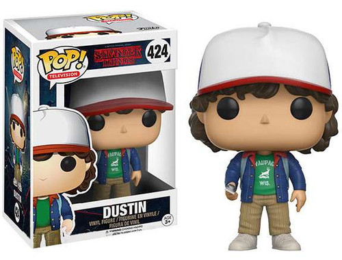 Funko Stranger Things POP! TV Dustin Henderson Vinyl Figure #424 [Blue Jacket, Holding Compass]