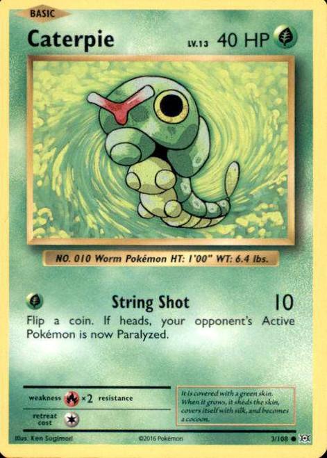 Pokemon X & Y Evolutions Common Caterpie #3