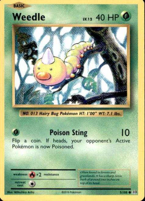 Pokemon X & Y Evolutions Common Weedle #5