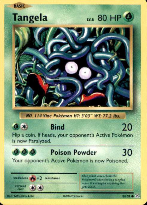 Pokemon X & Y Evolutions Common Tangela #8