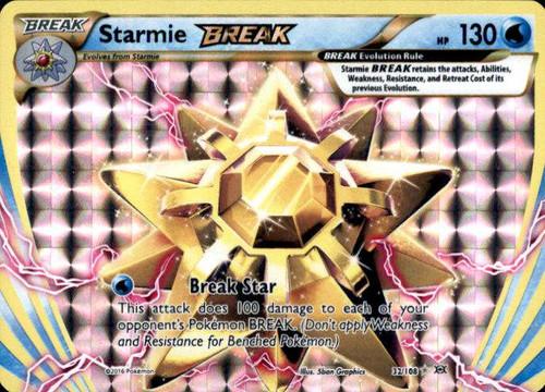Pokemon X & Y Evolutions Rare Holo BREAK Starmie BREAK #32