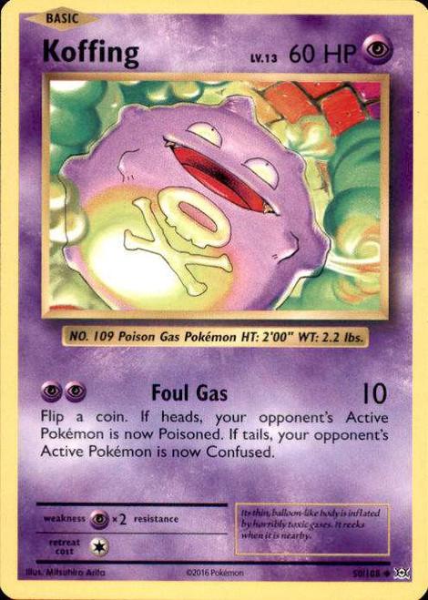 Pokemon X & Y Evolutions Uncommon Koffing #50
