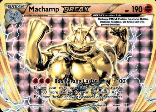 Pokemon X & Y Evolutions Rare Holo BREAK Machamp BREAK #60
