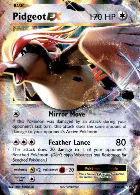 Pokemon X & Y Evolutions Ultra Rare Pidgeot EX #64