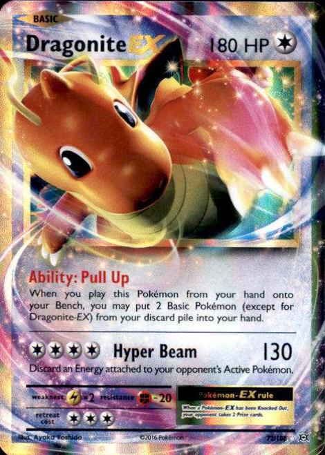 Pokemon X & Y Evolutions Ultra Rare Dragonite EX #72