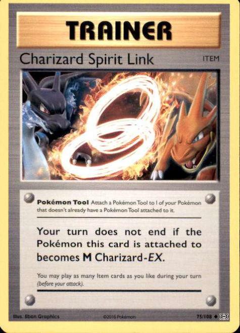 Pokemon X & Y Evolutions Uncommon Charizard Spirit Link #75