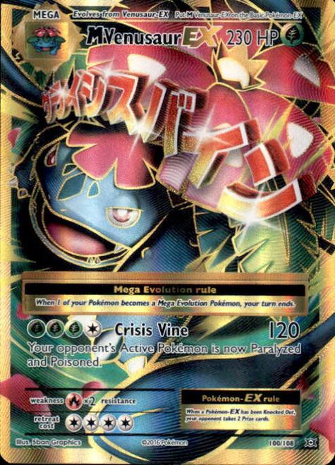 Pokemon X & Y Evolutions Ultra Rare Full Art M Venusaur EX #100