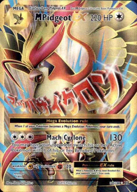 Pokemon X & Y Evolutions Ultra Rare Full Art M Pidgeot EX #105