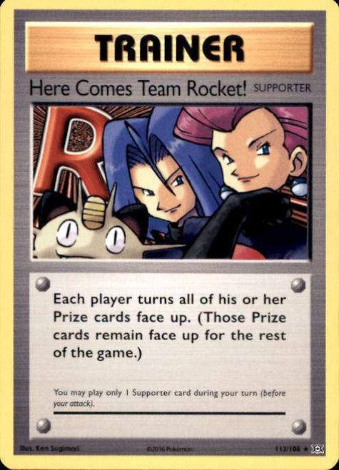 Pokemon X & Y Evolutions Secret Rare Here Comes Team Rocket! #113