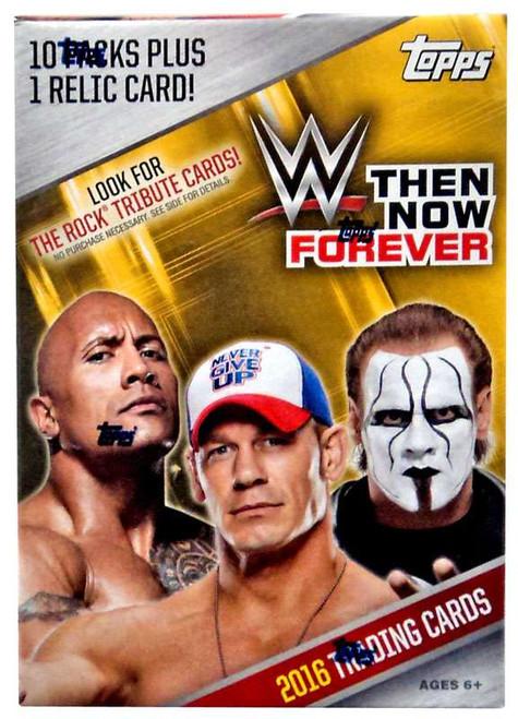 WWE Wrestling Topps 2016 Then Now Forever Trading Card BLASTER Box [10 Packs & 1 Relic Card!]