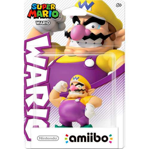Nintendo Super Mario Amiibo Wario Mini Figure [Super Mario]