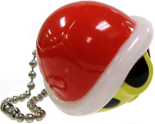 Super Mario Bros. New Super Mario Bros Wii Light Up Collection 2 Red Koopa Shell Keychain