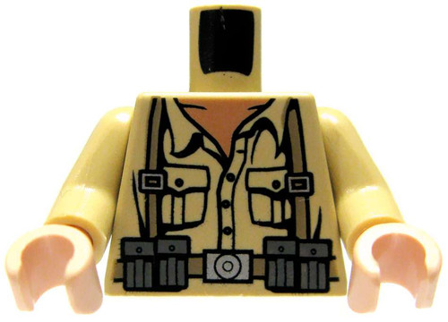 LEGO Light Tan with WWII Style Print Loose Torso [Loose]