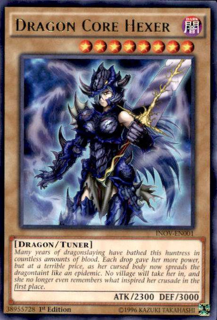 YuGiOh Invasion: Vengeance Rare Dragon Core Hexer INOV-EN001