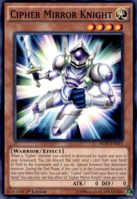 YuGiOh Invasion: Vengeance Common Cipher Mirror Knight INOV-EN011