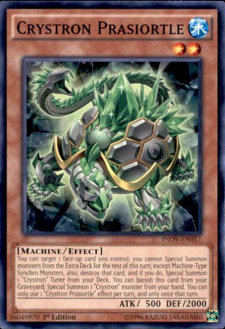 YuGiOh Invasion: Vengeance Common Crystron Prasiortle INOV-EN017