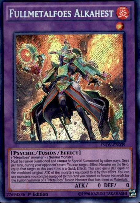 YuGiOh Invasion: Vengeance Secret Rare Fullmetalfoes Alkahest INOV-EN039