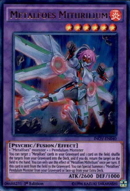 YuGiOh Invasion: Vengeance Ultra Rare Metalfoes Mithrilium INOV-EN040