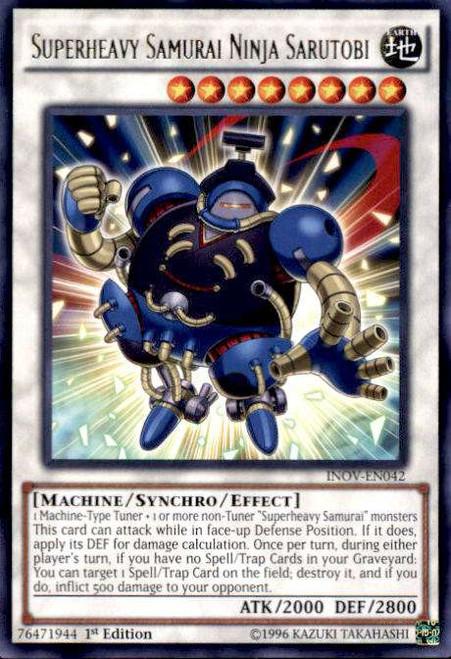 YuGiOh Invasion: Vengeance Rare Superheavy Samurai Ninja Sarutobi INOV-EN042