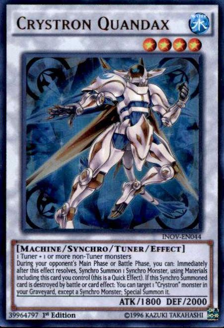YuGiOh Invasion: Vengeance Ultra Rare Crystron Quandax INOV-EN044