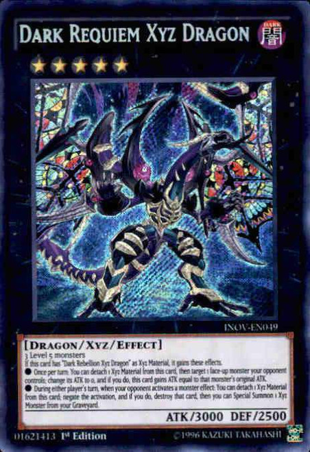 YuGiOh Invasion: Vengeance Secret Rare Dark Requiem Xyz Dragon INOV-EN049