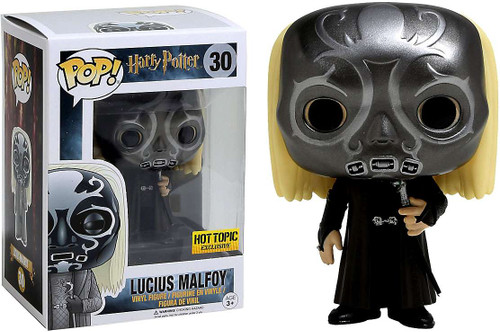 Funko Harry Potter POP! Movies Lucius Malfoy Exclusive Vinyl Figure #30 [Death Eater Mask]