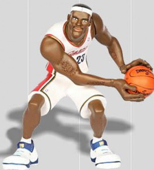 NBA All Star Vinyl LeBron James Vinyl Figure [White Home Jersey]