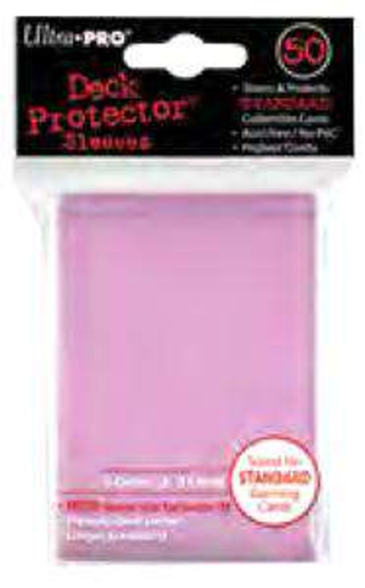 Ultra Pro Card Supplies Deck Protector Pink Standard Card Sleeves [50 Count]