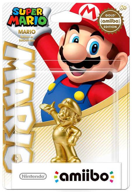 Nintendo Super Mario Amiibo Mario Mini Figure [Gold Edition]