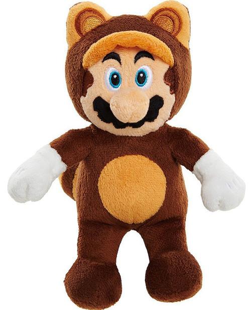 World of Nintendo Super Mario 3D World Mario 8-Inch Plush [Brown Tanooki Suit]
