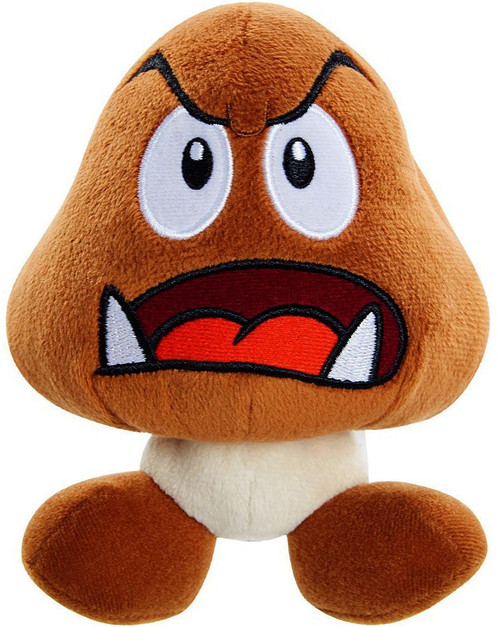 World of Nintendo Super Mario Goomba 6-Inch Plush [Open Mouth]