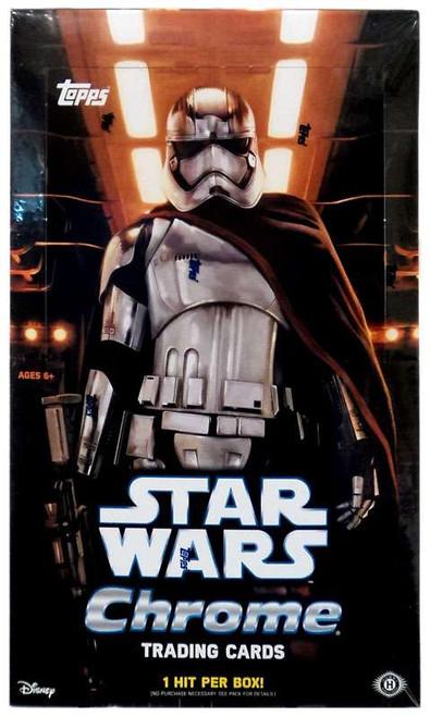 Star Wars Chrome The Force Awakens Trading Card HOBBY Box [24 Packs, 1 Hit!]