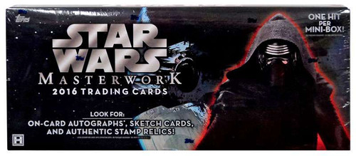 Star Wars Topps 2016 Masterwork Trading Card HOBBY Box [4 Packs (MINI Boxes)]